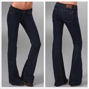 DL1961 Roxy Kick Flare Dark Rinse Jeans